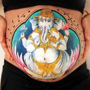 Bellypainting Ganesha Ari